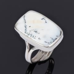 Кольцо агат пейзажный Казахстан (серебро 925 пр.) (регулируемый) размер 19