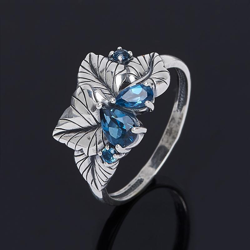 Кольцо топаз лондон огранка (серебро 925 пр.) размер 18 кольцо коюз топаз кольцо т747017362 01