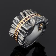 Кольцо аметист Бразилия огранка (серебро 925 пр., позолота) размер 17,5