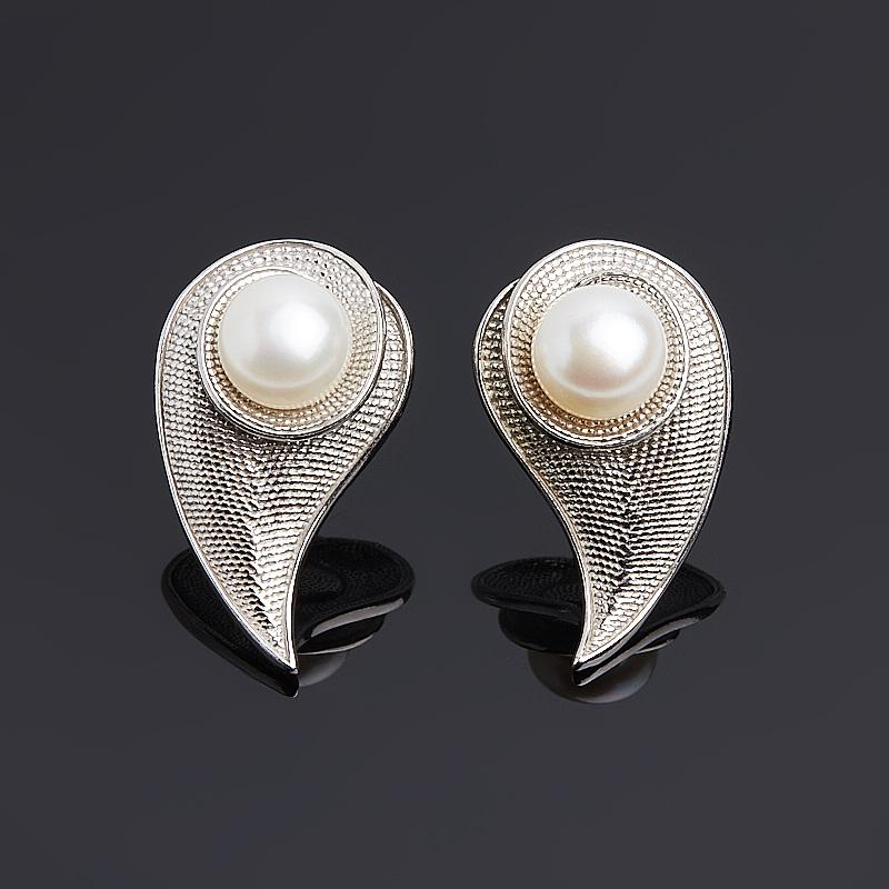 Серьги жемчуг белый (серебро 925 пр.) серьги жемчуг черный серебро 925 пр