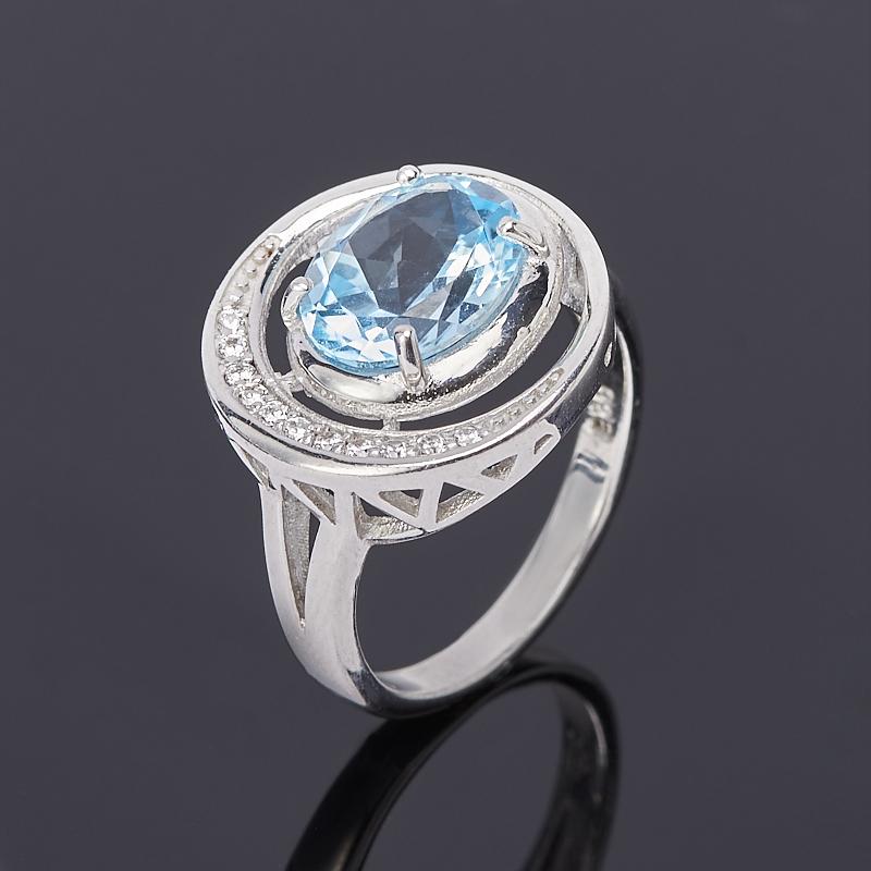 цена на Кольцо топаз голубой огранка (серебро 925 пр.) размер 19