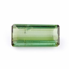 Огранка турмалин зеленый (верделит) Бразилия багет 5*12 мм