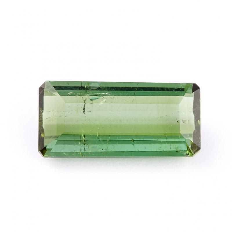Огранка турмалин зеленый (верделит) багет 5*12 мм