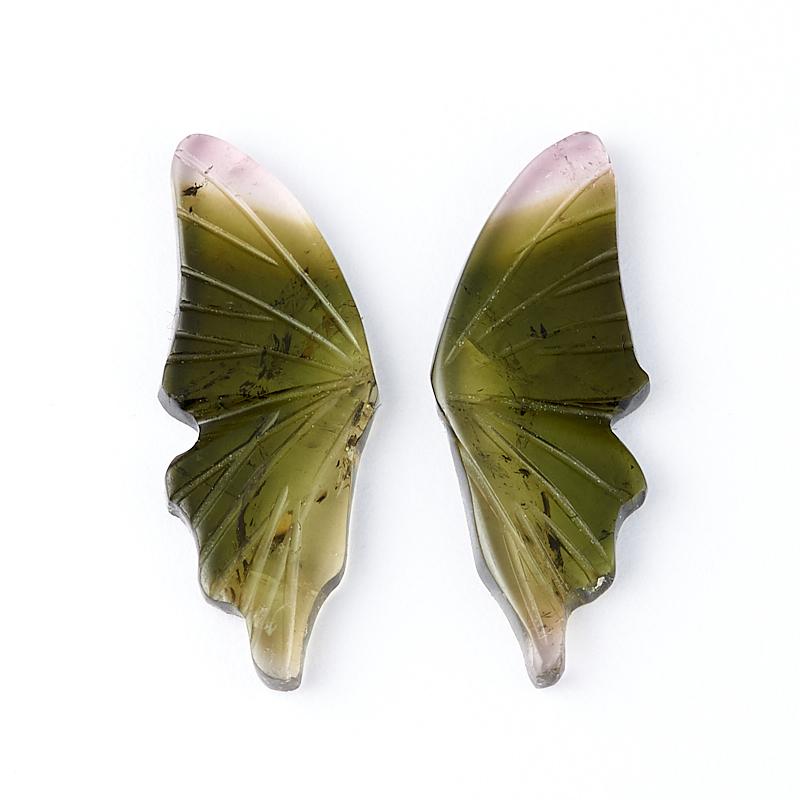 Комплект вставок турмалин зеленый (верделит) 6*15 мм (2 шт) естественных афро бирюзовый круглых бусин пряди темно зеленые 6 мм отверстие 1 мм около 63 шт нитка 15 3