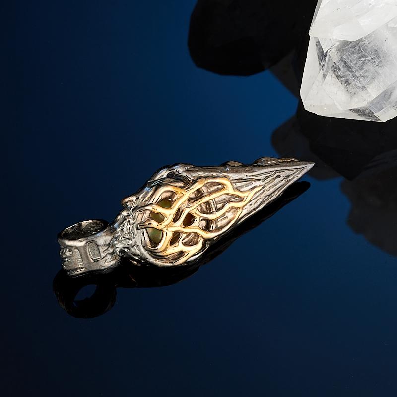 Кулон опал благородный желтый Эфиопия (серебро 925 пр., позолота)
