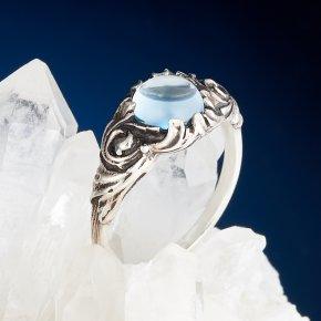 Кольцо топаз голубой Нигерия (серебро 925 пр.) размер 17,5