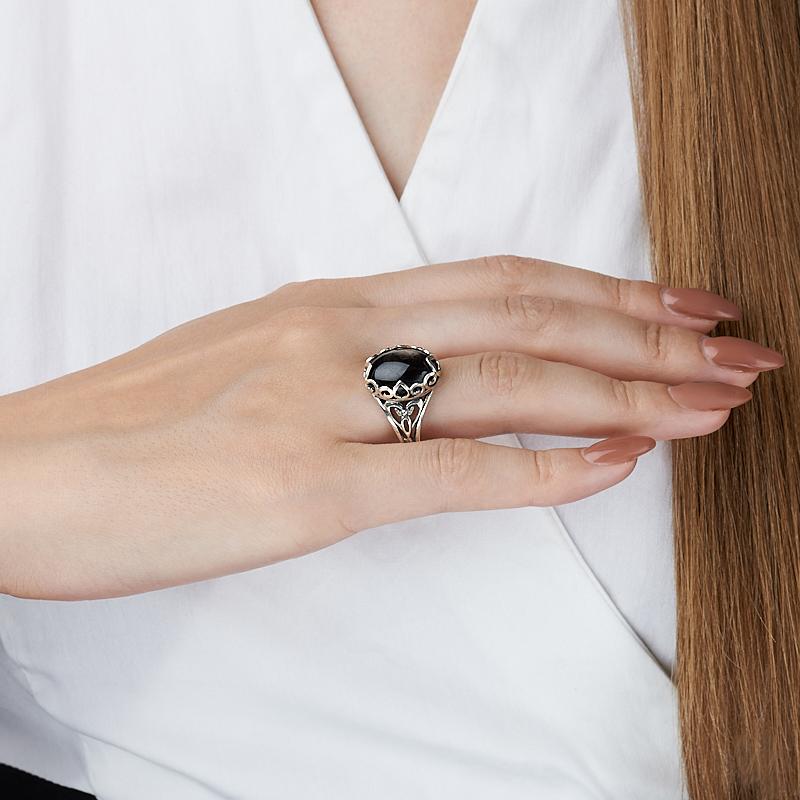 Кольцо гиперстен Канада (серебро 925 пр.) размер 17