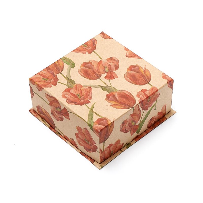 Подарочная упаковка под комплект (кольцо, серьги) 90х90х40 мм подарочная упаковка под комплект серьги кольцо 75x65x30 мм