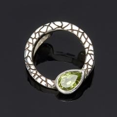 Кулон хризолит США круг огранка (серебро 925 пр.)