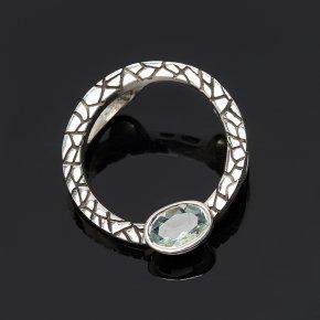 Кулон аквамарин Бразилия круг огранка (серебро 925 пр.)