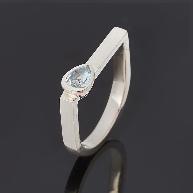 цена на Кольцо топаз голубой огранка (серебро 925 пр.) размер 16,5