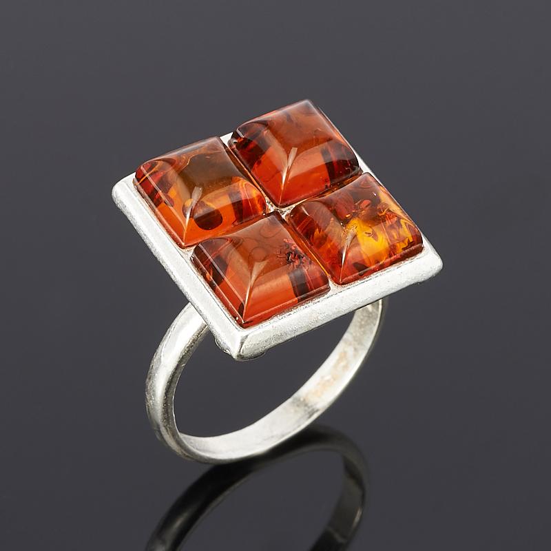Кольцо янтарь размер 17,5 россия 820904 кольцо ag925 янтарь р п 4 71