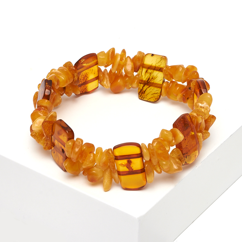 Браслет янтарь 17 см браслет янтарь пресс 5 мм 17 см