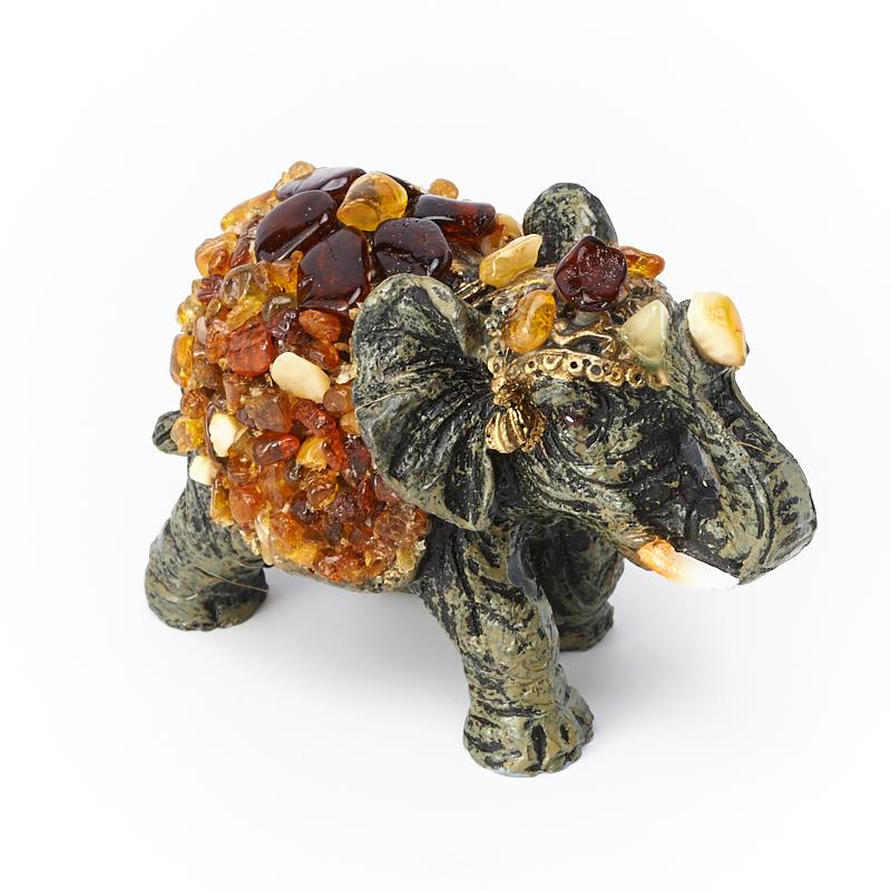 Слон янтарь 7х3,5х5 россия чайница слон 1