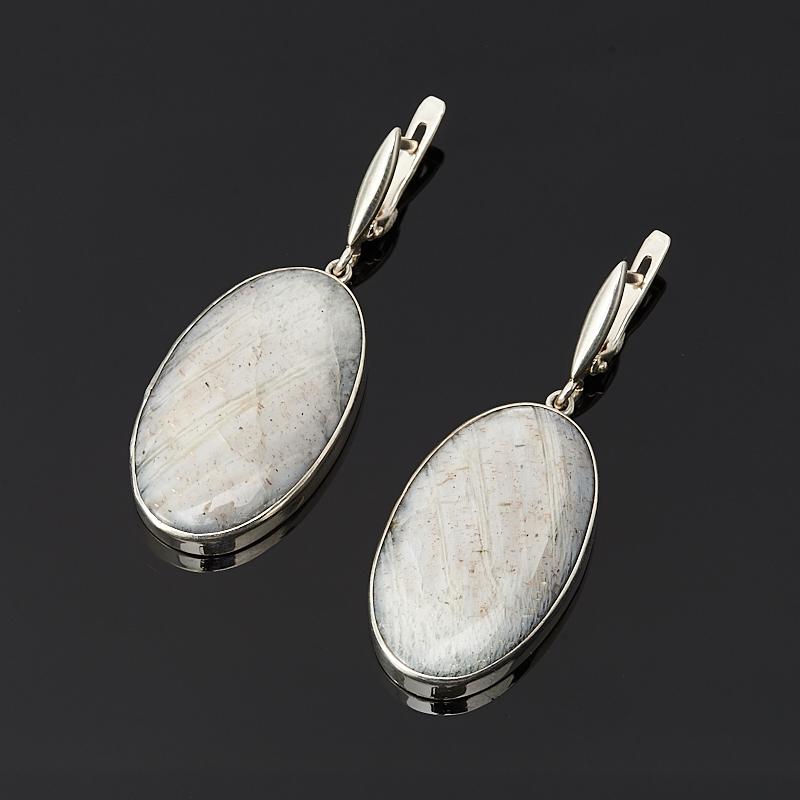 Серьги лунный камень (серебро 925 пр.)