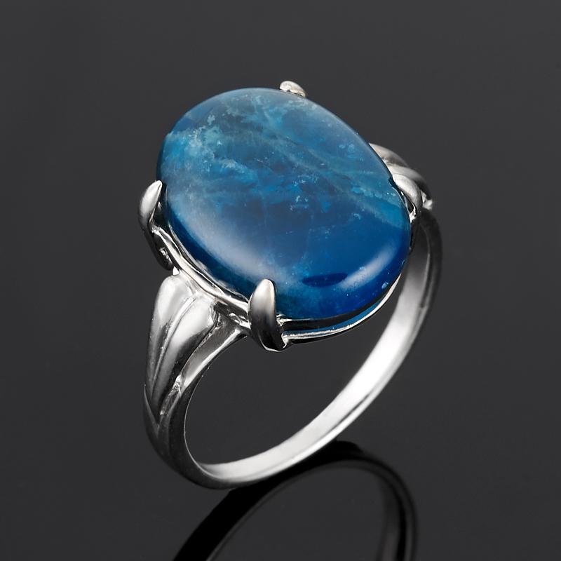 Кольцо апатит синий Бразилия (серебро 925 пр.) размер 17,5