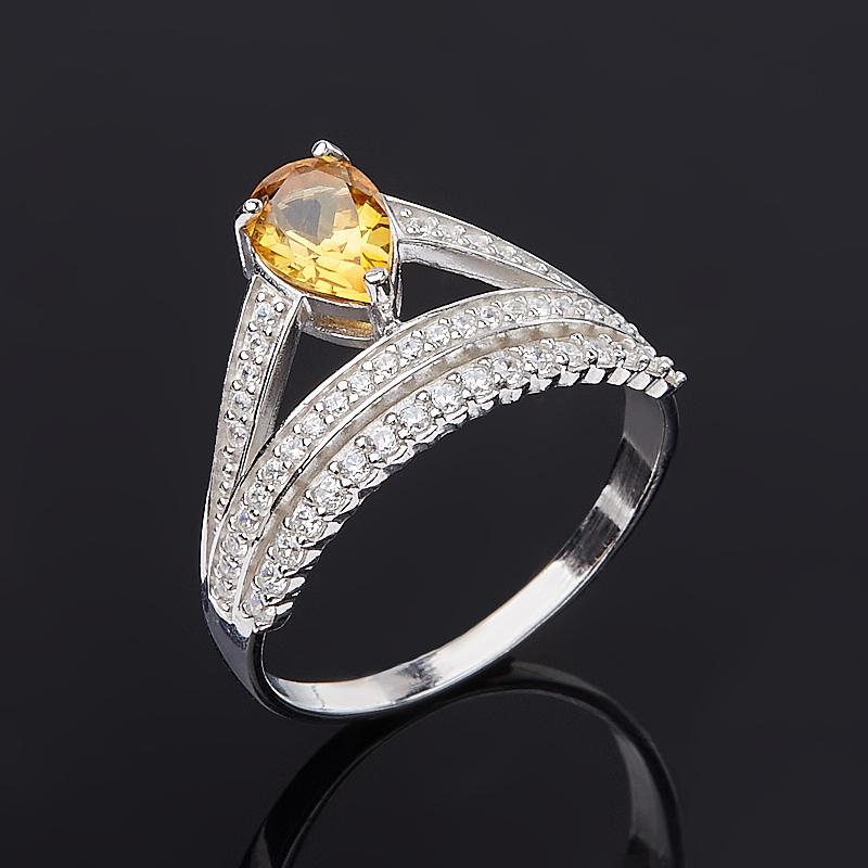 Кольцо цитрин огранка (серебро 925 пр.) размер 18 кольцо цитрин серебро 925 пр размер 18