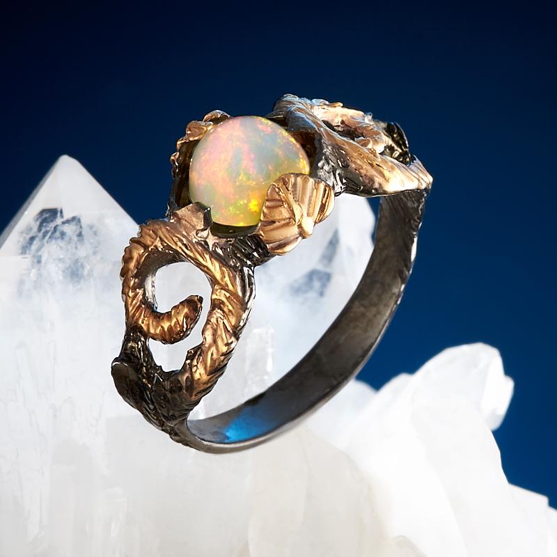 Кольцо опал благородный желтый (серебро 925 пр., позолота) размер 17,5 аккумуляторы varta aaa r2u 800 мач блистер 4шт