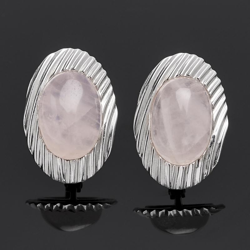 Серьги розовый кварц (серебро 925 пр.) серьги амазонит розовый кварц