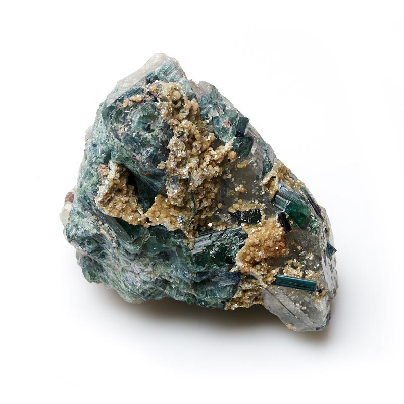 Кристалл в породе турмалин зеленый (верделит) S zogaa зеленый цвет номер s