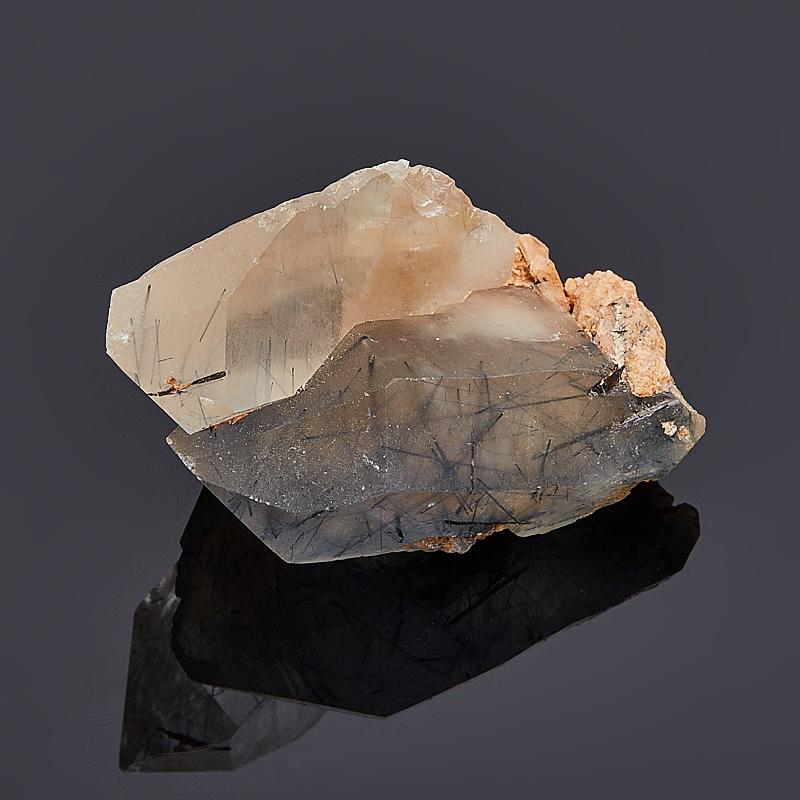 Кристалл кварц с индиголитом (сросток) S