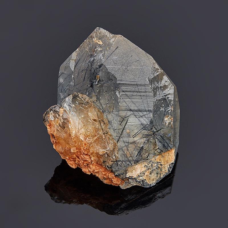 Кристалл кварц с индиголитом XS