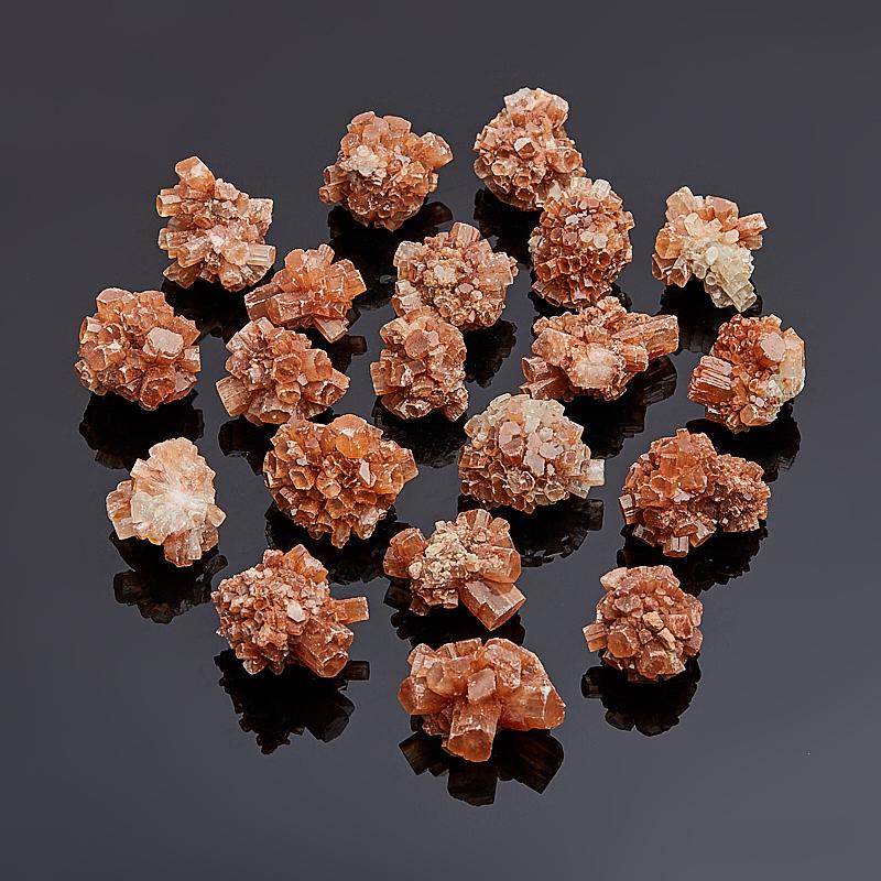 Друза арагонит оранжевый (2-3 см) 1 шт браслет арагонит белый 15 см