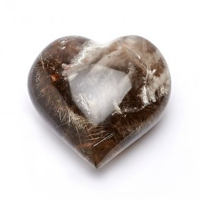 Сердечко раухтопаз с рутилом Мадагаскар 9 см