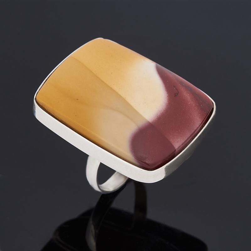 Кольцо яшма мукаит (серебро 925 пр.) размер 17,5 цена