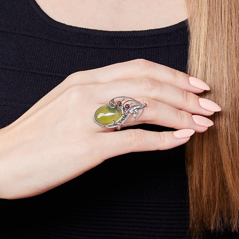 Кольцо везувиан Россия (нихром) размер 18