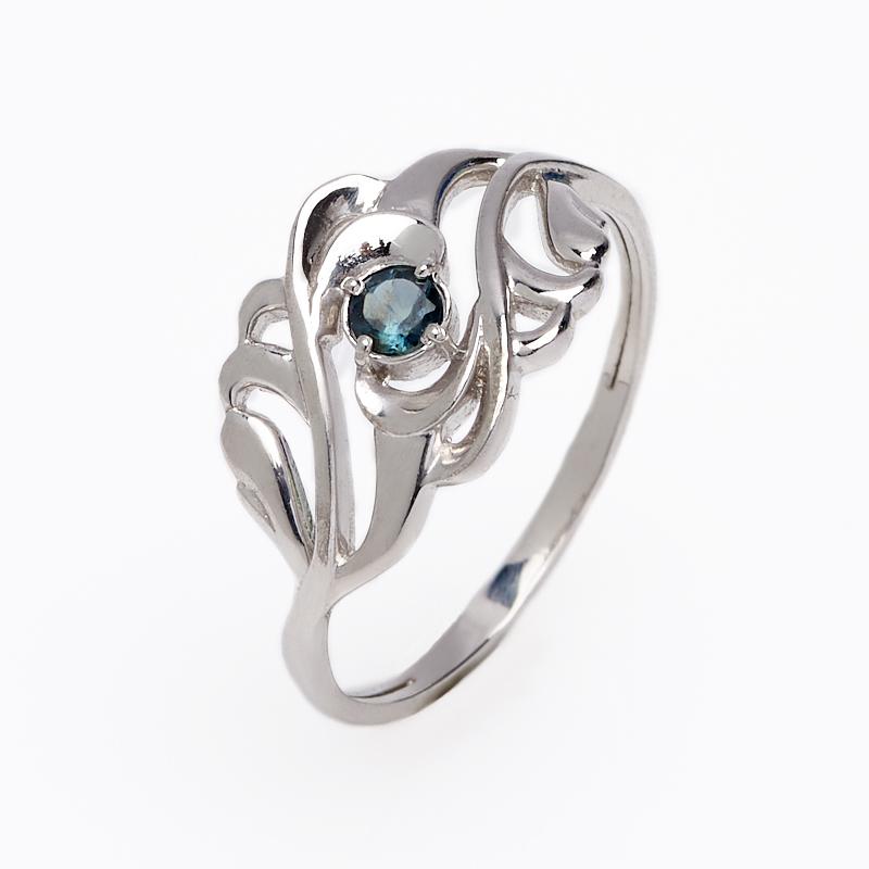 Кольцо сапфир черный огранка (серебро 925 пр.) размер 18 кольцо женское jenavi виконт решимость цвет серебро черный h4663060 размер 18