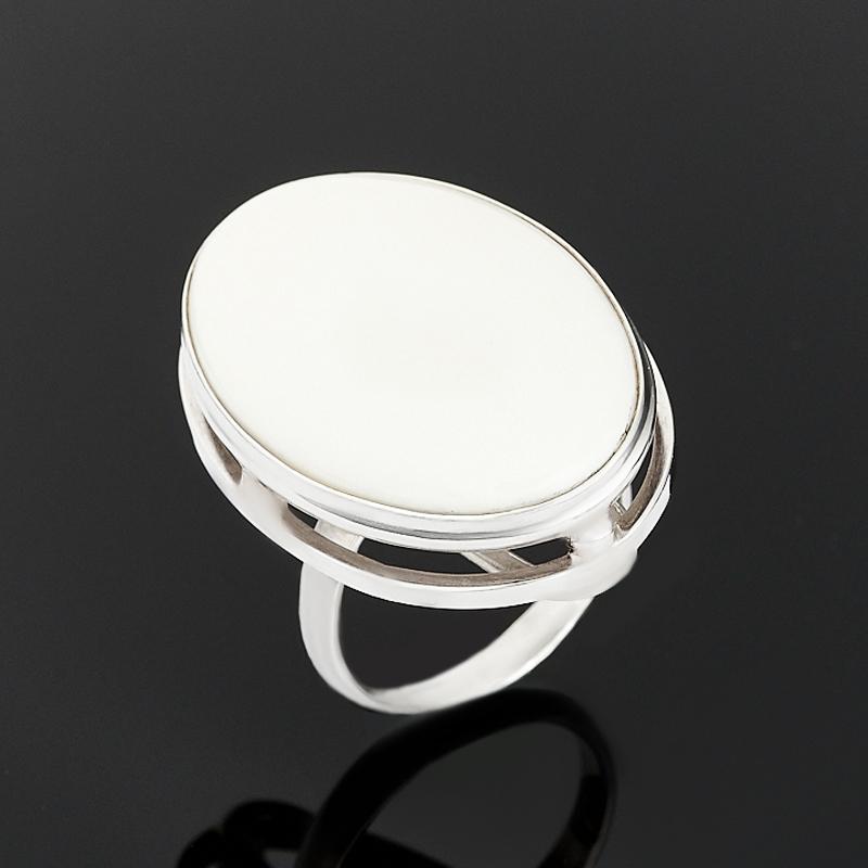 Кольцо кахолонг (серебро 925 пр.) размер 17