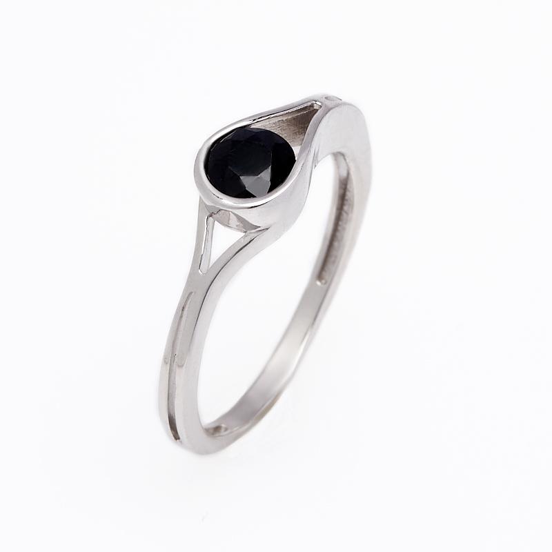 Кольцо сапфир черный огранка (серебро 925 пр.) размер 17,5 кольцо сапфир черный огранка серебро 925 пр размер 18