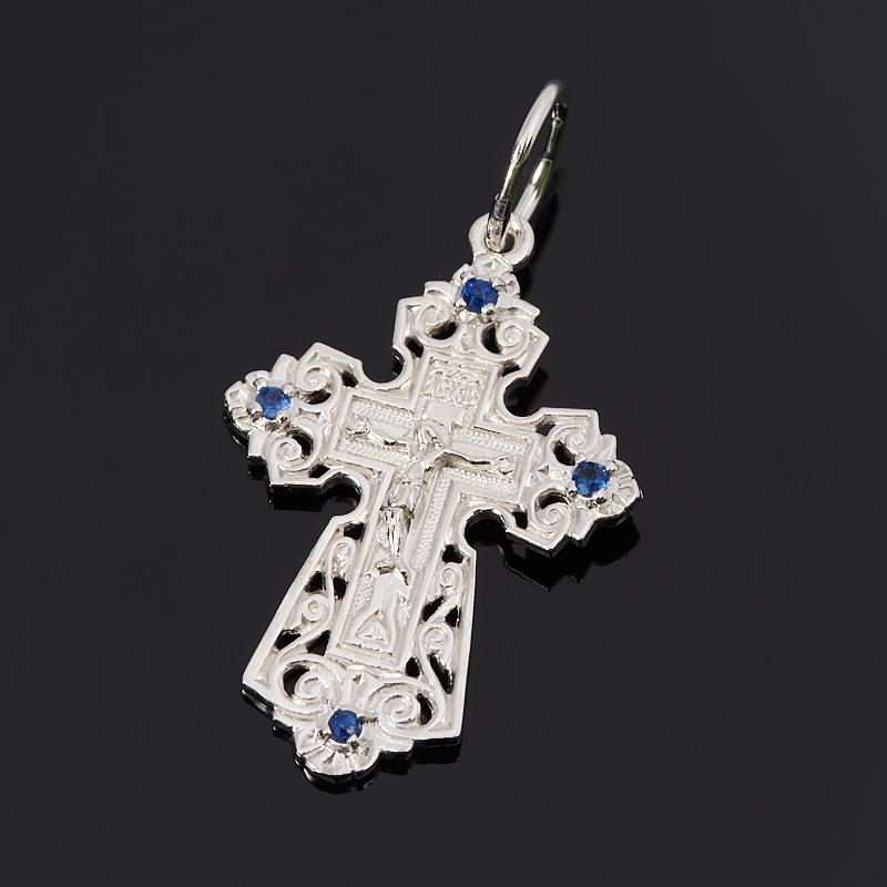 Кулон сапфир крест огранка (серебро 925 пр.) кулон опал благородный в породе серебро 925 пр