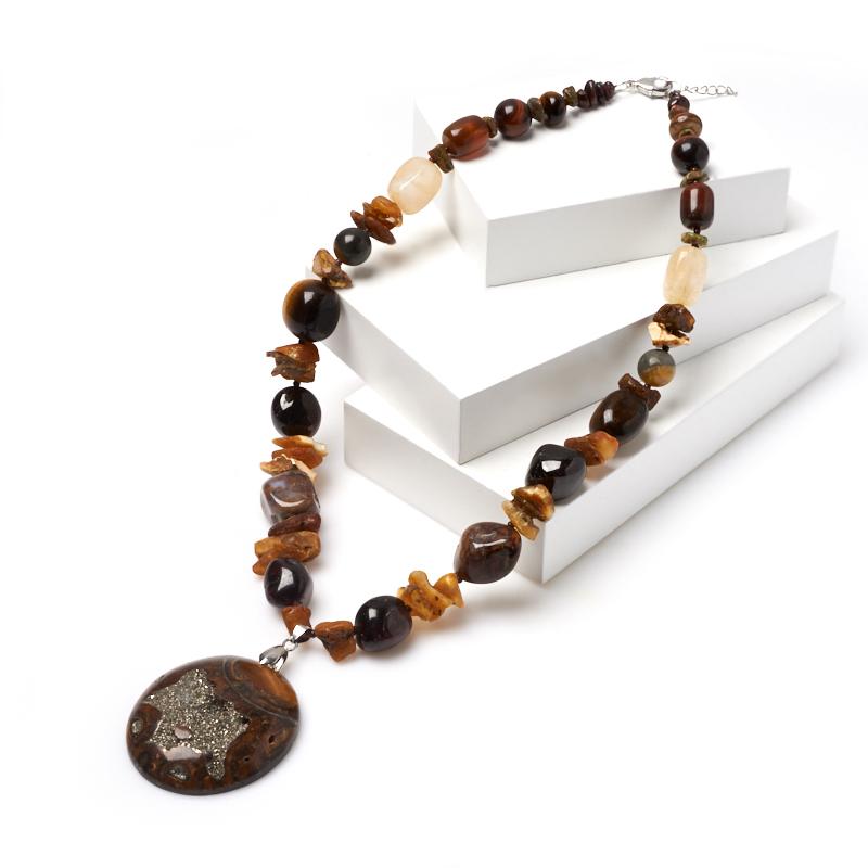 Бусы из разных видов камней (колье) 52-58 см (хир. сталь) бусы из хрусталя маркиза page 2