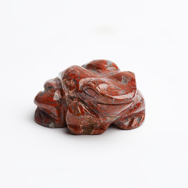 Лягушка яшма красная 5 см