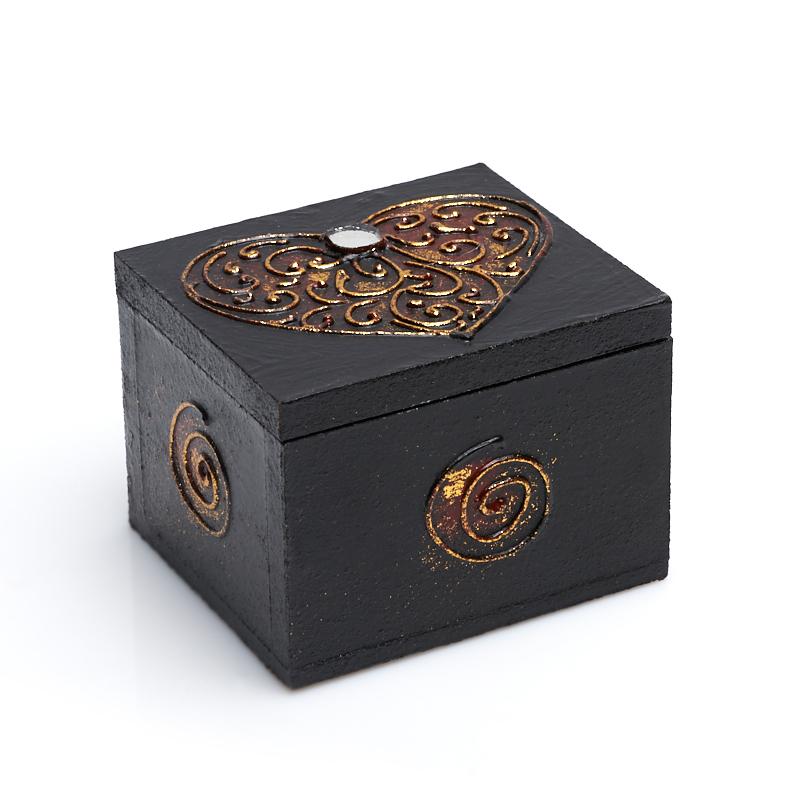 Шкатулка для хранения камней / украшений 7х6х5 см шкатулка для украшений moretto 18 13 5 см коричневый