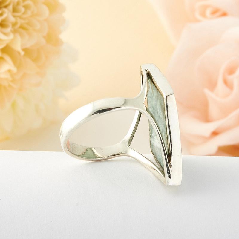 Кольцо везувиан Россия (серебро)  размер 18
