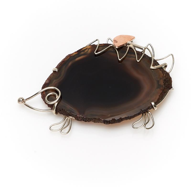 Фото - Брошь агат коричневый (нейзильбер) брошь blucome bijouteria esmaltes 7106100495