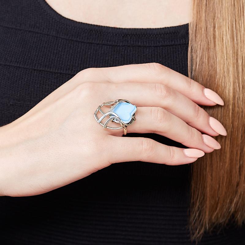 Кольцо бирюза (дублет) Казахстан (нейзильбер) размер 17,5