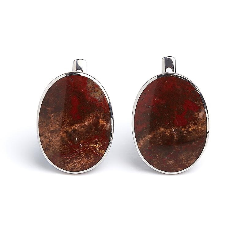 Серьги яшма уральская (серебро 925 пр.) titan уральская