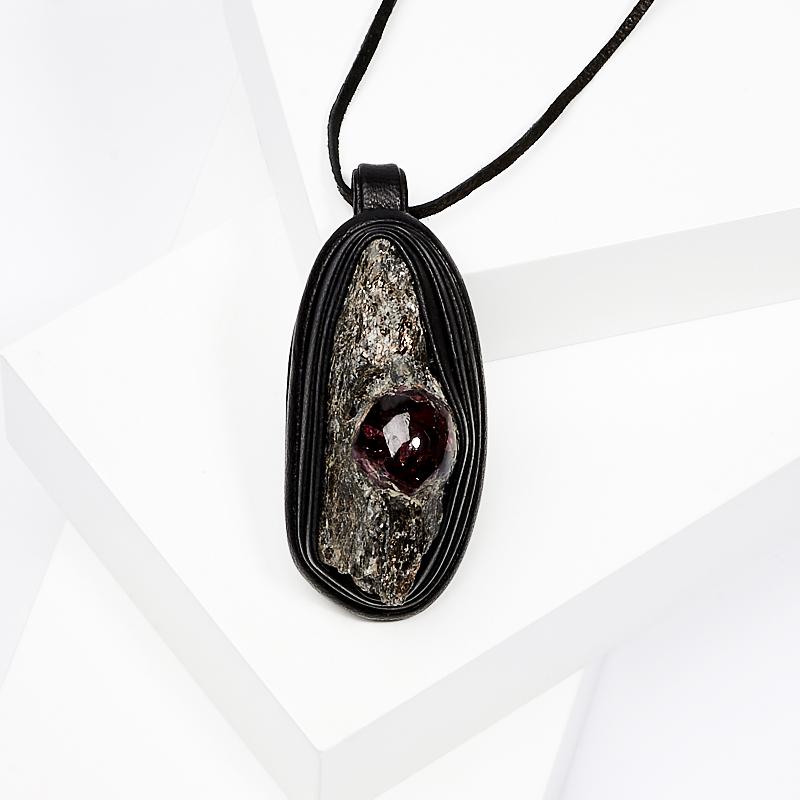 Подвеска гранат альмандин (натуральная кожа) ювелирные подвески sl silverland подвеска гранат