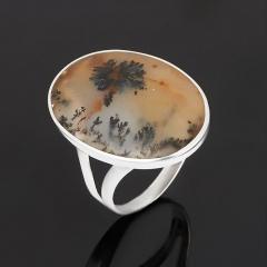 Кольцо агат пейзажный Индия (серебро 925 пр.) размер 18,5