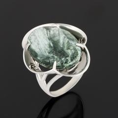 Кольцо клинохлор (серафинит) Россия (серебро 925 пр.) размер 18,5