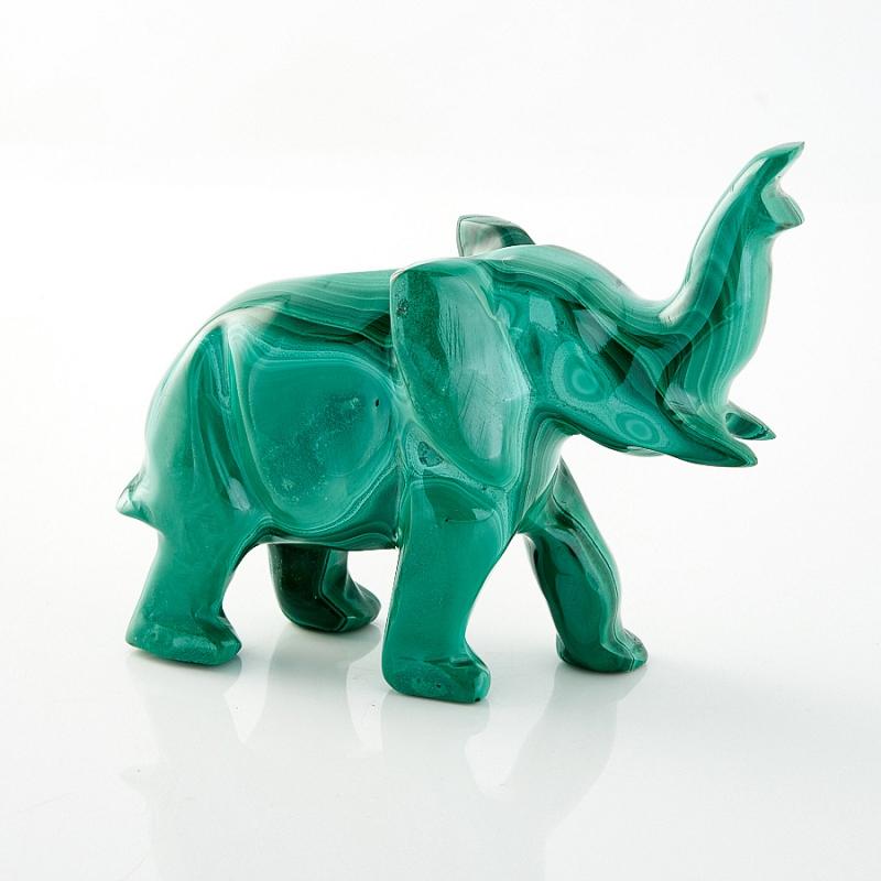 Слон малахит 6 см