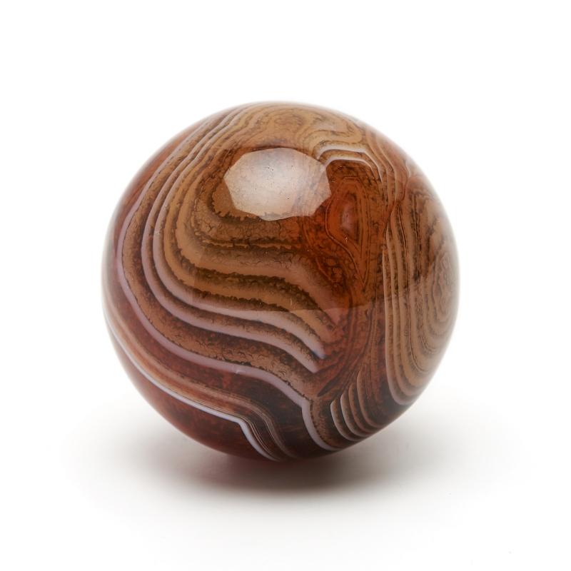 Шар агат красный 3,5 см pieryoga красный шар йоги дефолт