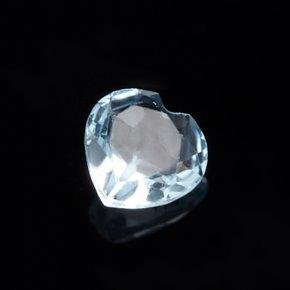 Огранка топаз голубой Бразилия сердце 5 мм