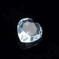 Огранка топаз голубой Бразилия сердце (1 шт) 5 мм