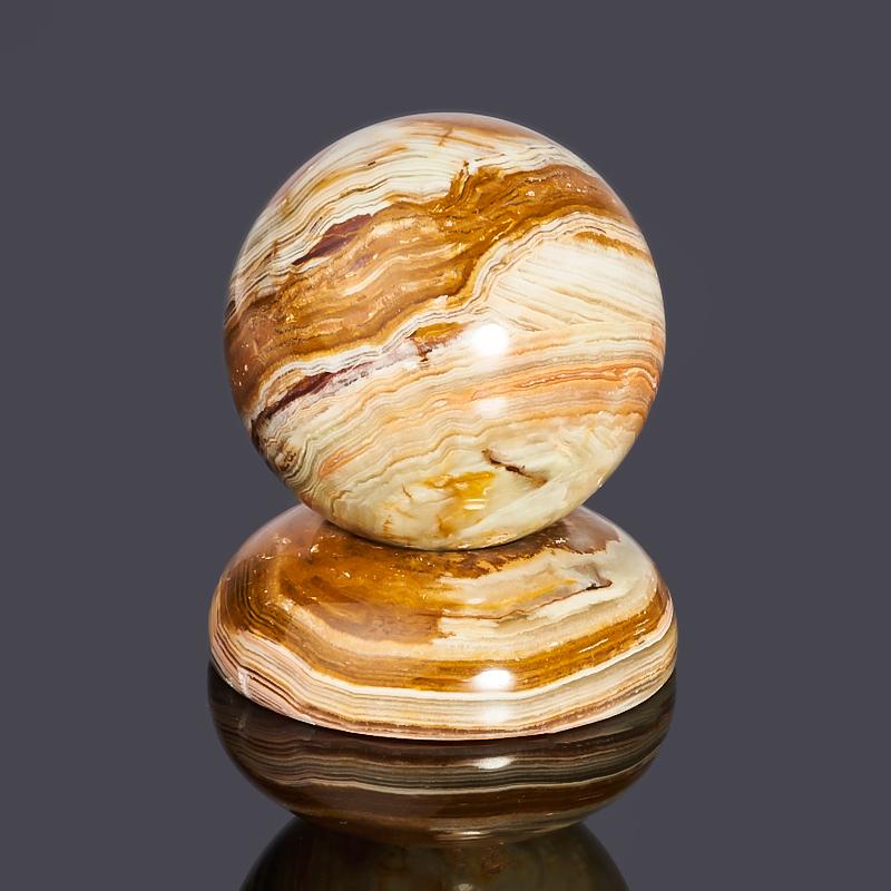 Подставка под шар/яйцо оникс мраморный Пакистан 5 см