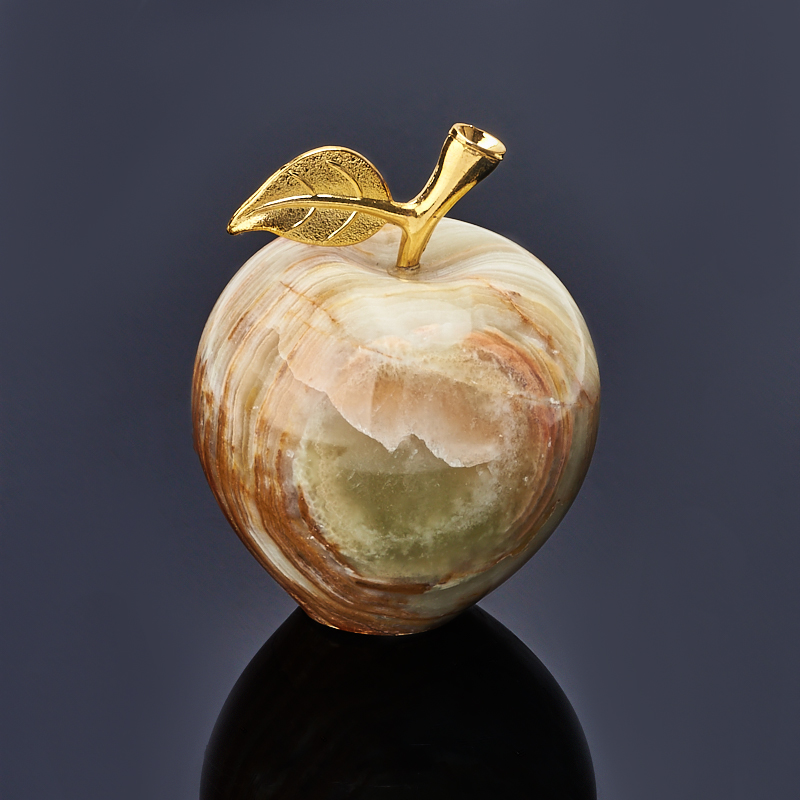 Яблоко оникс мраморный 6,5х7,5 см ступка оникс мраморный 7х7 5 см